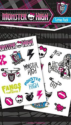 GB Eye Ltd, Monster High, Symbols, Set de tatouages
