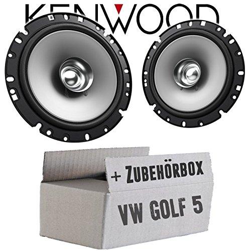 Lautsprecher Boxen Kenwood KFC-S1756-16cm Koax Auto Einbauzubehör - Einbauset für VW Golf 5 - JUST SOUND best choice for caraudio