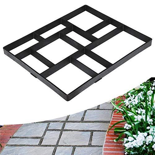 Topeakmart Plus Size Walk Maker Reusable Concrete Path Maker Molds Stepping Stone Paver Lawn Patio Yard Garden DIY Walkway Pavement Paving Moulds(10 Grids)