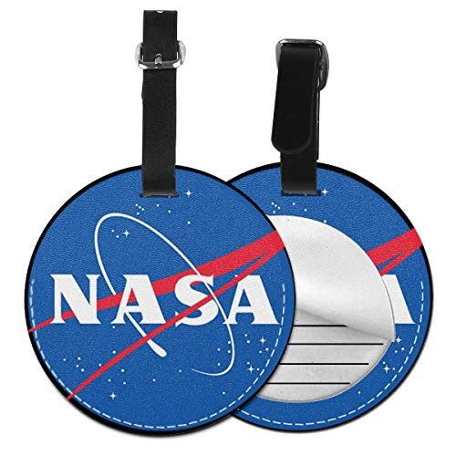 Etiquetas De Equipaje De Cuero Sintético Identificación De Nombre con Cubierta De Privacidad Trasera para Maleta De Viaje, NASA 4