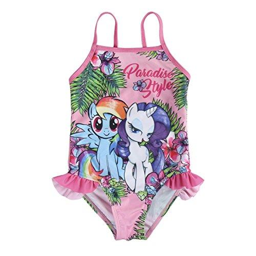My Little Pony 2200002832_04 Traje de baño de una Sola Pieza, Rosa, Verde, 4 años para Niñas