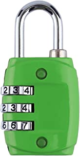 Zinc Alloy Security 3 Digit Dial Combination Code Number Lock Padlock for Luggage Zipper Backpack Handbag Suitcase Drawer - Green