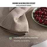 6-er Pack Leinen Stoffservietten – Servietten – Leinenservietten – 45×45 cm – Bauerleinen – Farbe Natur Braun - 3