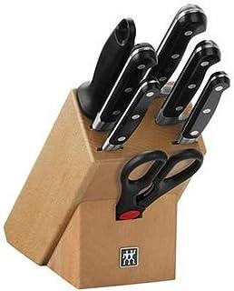 ZWILLING Bloc de Couteaux, 8 Pièces, Bloc en Bois, Couteaux & Ciseaux en Acier Inoxydable Spécial/Manche Plastique, Profes...
