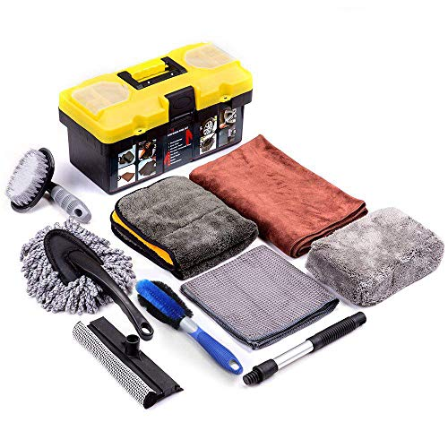 Mofeez 9pcs Car Cleaning Tools Kit with Blow Box Car
