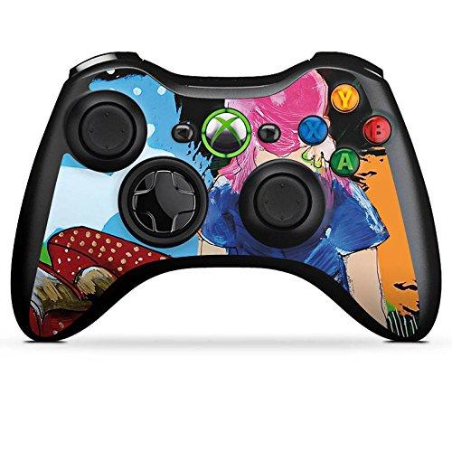DeinDesign Skin kompatibel mit Microsoft Xbox 360 Controller Aufkleber Folie Sticker Erdbeere Strawberry Sekt
