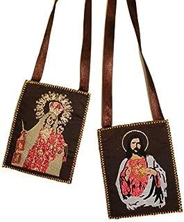Catholic & Religious Gifts, SCAPULAR CARMEN & SACRED HEART JESUS