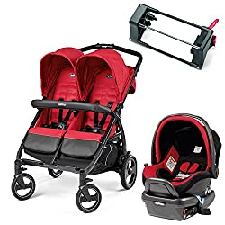 Double Stroller travel system with one car seat