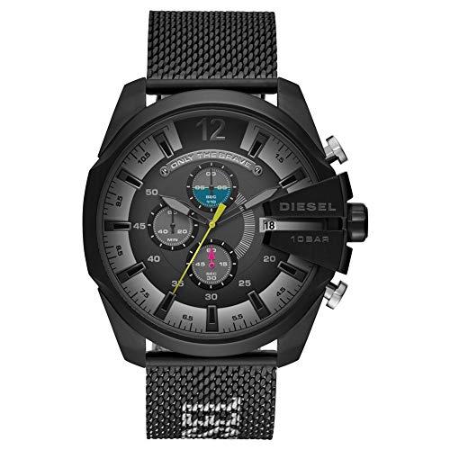 Diesel Herren Chronograph Quarz Uhr mit Edelstahl Armband DZ4514