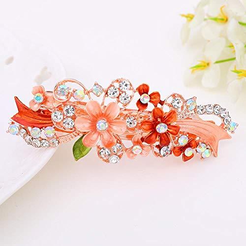Accessoires De Cheveux Coréens Drip Flower Spring Chuck Hair Ponytail Hair Clip For Women (2 Pack), Orange
