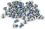 Poppstar Tornillos disco duro para discos duros de 3,5' (#6-32 UNC x 7 mm; color: plateado) set de 50 piezas