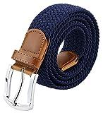 Maikun Mens Belt, Canvas Elastic Belt, Mens Belts Leather Tip