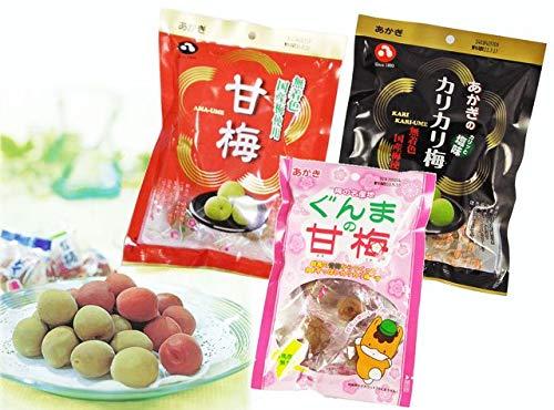 【赤城フーズ Amazon限定商品】元祖カリカリ梅 食べ比べセット