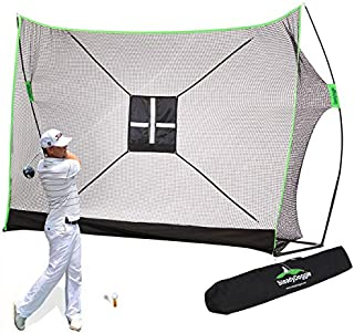 SteadyDoggie 10 x 7ft Golf Net Bundle 3pc - Comprising of Professional Patent Pending Golf Net, Chipping Target & Carry Bag-The Right Choice of Golf Nets for Backyard Driving & Golf Hitting Nets