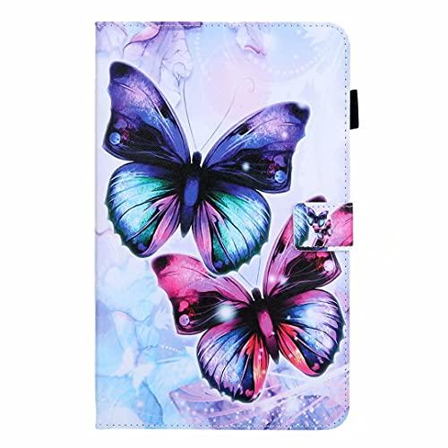 Funda para Samsung Galaxy Tab A 7.0 pulgadas SM-T280/T285 Tablet, a prueba de golpes, piel sintética, función de soporte de visualización multiángulo, cubierta protectora con doble mariposa
