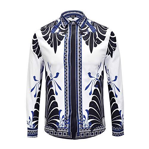 CHENS Camisa/Casual/Unisex/tamaño de la Camisa de los Hombres Impresa alas de Mariposa un diseño de Moda Estadounidense Joven Negocios Ocio Club Nocturno