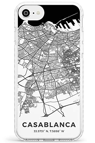 Mappa di Casablanca, in Marocco Impact Cover per iPhone 6 TPU Protettivo Phone Leggero con Viaggio Wanderlust Europa Città Strade