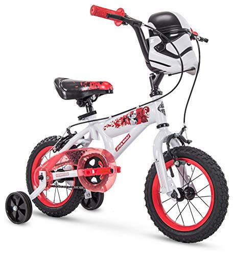 Huffy 72198 Star Wars Stormtrooper 12 Inch Toddler Boys Bike with Training Wheels, White