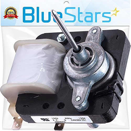 Mejor Ultra Durable WR60X10185 Refrigerator Evaporator Fan Motor Replacement Part by Blue Stars - Exact Fit For GE & Hotpoint Refrigerators - Replaces WR23X10353 WR23X10355 WR23X10364 PS1019114 AP3875639 crítica 2020