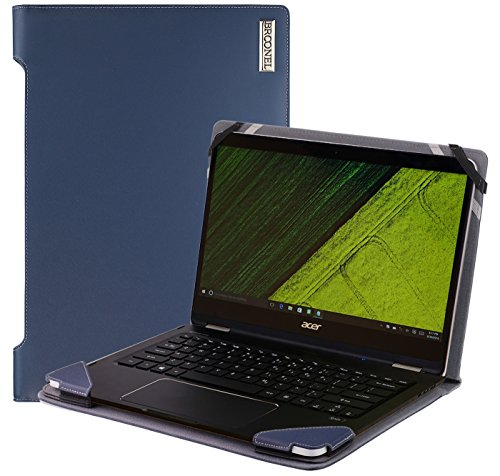 Broonel - Profile Series - Blue Leather Luxury Laptop Case Compatible With Acer Spin 7 14?