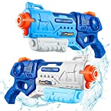 Water Gun for Kids - 2 Pack 900cc High Capacity Blaster Squirt for Summer Swimming Pool & Beach Party Favors Water Outdoor Fighting Toy for Kids Adults Boys and Girls
