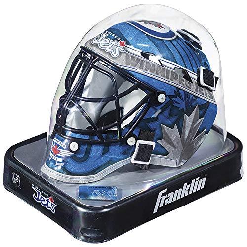 Franklin Sports Eishockey-Sammelartikel Torwart-Helm Mini, Design: Logo Einer NHL-Mannschaft, 7784F34, Winnipeg Jets