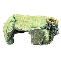 スタイリッシュな水族館の装飾 水槽水族館デコレーションクリエイティブ飾り樹脂洞窟テラス造園爬虫類タンク 絶妙なオーナメント (色 : Painted, Size : 24x16x9cm)