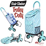 dbest products Stair Climber Trolley Dolly, Morrocan Tile Shopping Grocery Foldable Cart...