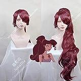 Princess Megara Cosplay Wig Hercules Meg Long Red Synthetic Hair for Adult + Wig Cap