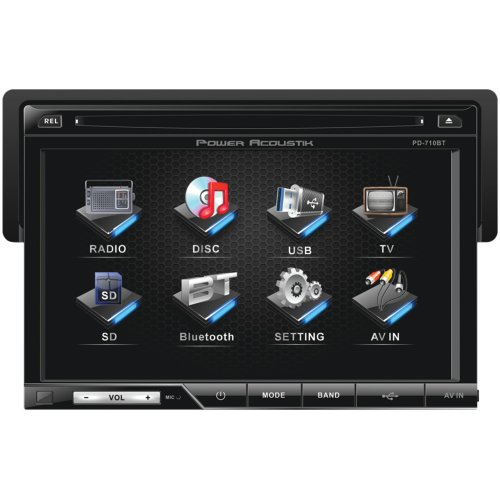 Why Choose Power Acoustik PD-710B 7 Single-DIN In-Dash LCD Touchscreen DVD Receiver with Detachable ...