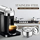 Bedler Cápsulas de café de Acero Inoxidable Vertuoline Pod Filters Cup 230ml Volumen de preparación Cápsula de café Reutilizable Reutilizable Cofre Set para Nespresso Vertuoline GCA1 Delonghi ENV135
