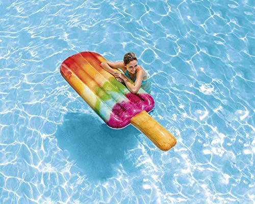 Bavaria Home Style Collection- Luftmatratze für Wasser Schwimmmatratze Pool aufblasbare Liege Badematratze Schwimmliege Wassermatte Bade Luftmatraze Wasserliege EIS am Stiel bunt 185 x 89 cm Groß
