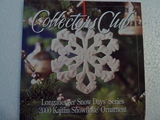 Longaberger Collectors Club Snow Days 2000 Ornament