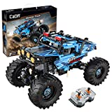 C61008W EACH Technik 4 x 4 car building blocks, remote control technology for off-road vehicles with motor and lighting,
