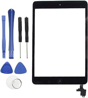 AUTOKAY ブラック タッチスクリーンパネル ガラスデジタイザー ICホームボタンツール付き iPad Mini 1 2 AAPR10024用