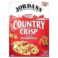 Jordans Country Crisp Strawberry Crunchy Clusters (500g) ジョーダンの国カリカリイチゴカリカリクラスター( 500グラム)