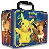 PoKÃMoN 820650804182   TCG: Fall 2018 Collector's Chest Tin Featuring Pikachu & Eevee | 5 Booster Packs | A Collector's Chest, Multicolor