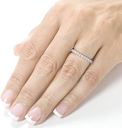 Kobelli Diamond Eternity Wedding Band 1 carat (ctw) in 14K White Gold