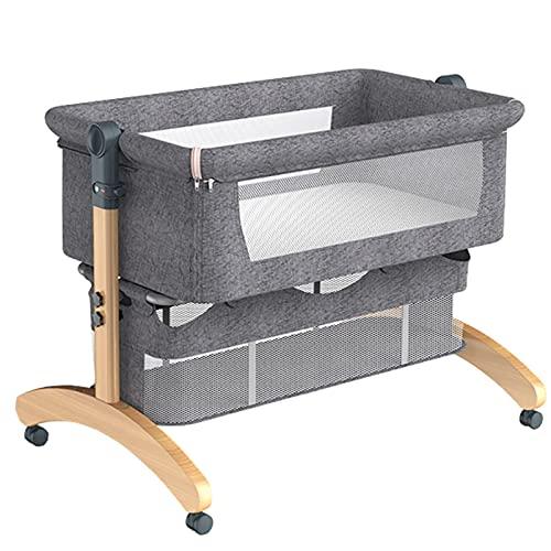 Cunas, Cuna para Dormir con La Cama De Bebé, Cuna De Cama De Baby Bayinet Cama Durmiente, Cuna Ajustable De Altura para Bebés Recién Nacidos(Color:Gris)