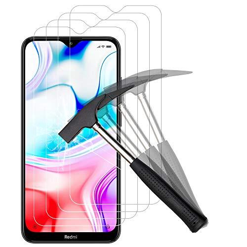 ANEWSIR [4 Pack] Protector de Pantalla para Xiaomi Redmi 8/8A,Cristal Templado para Xiaomi Redmi 8/8A [9H Dureza] [Alta Definicion] [Sin Burbujas]