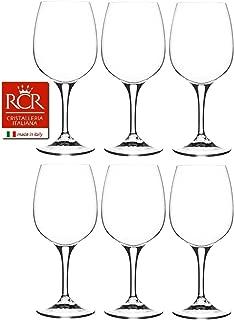 RCR Cristalleria Italiana Daily Collection 6 Piece Crystal Wine Glass Set (Wine Glass (14.75 oz))