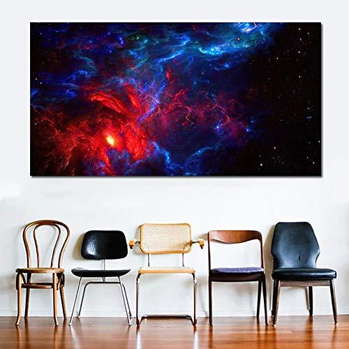 KWzEQ Imprimir en Lienzo Espacio para Carteles y fotografías, decoración de Arte de Pared para Sala de estar60x120cmPintura sin Marco