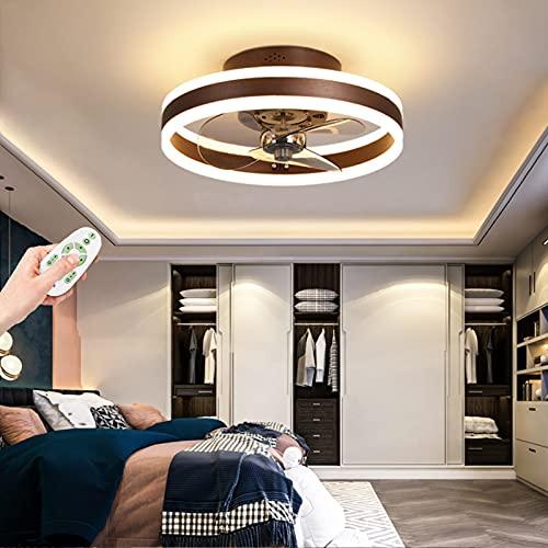 Ventilador De Techo Led Plafón Moderna Con Iluminación Control Remoto Ventilador Silencioso Lámpara Iluminación Interior Regulable Sala Estar Dormitorio Sala Luces Niños Comedor Luz Decorativa