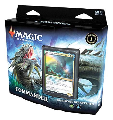 Magic: The Gathering Commander-Legenden Commander-Deck - Herrscher die Gezeiten, spielfertiges Deck mit 100 Karten Blau-Grün
