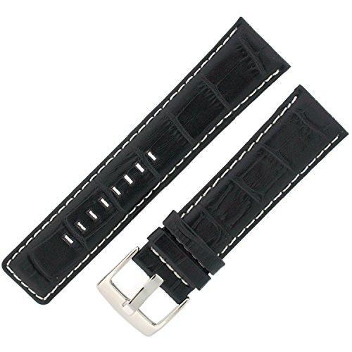 Cinturino in pelle nero sport Model 24Millimeter Tech Swiss