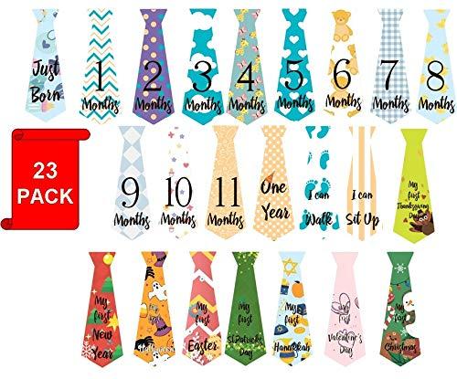 Baby Monthly Milestone Tie Stickers