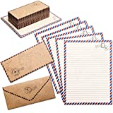 Vintage Stationery Paper Set and Envelopes in Travel Design (48 Sheets)