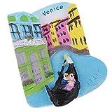 Baoblaze Imanes de Nevera Coleccionable para Hogar Recuerdos de Atracción Turística de Milan/Venecia - Venecia