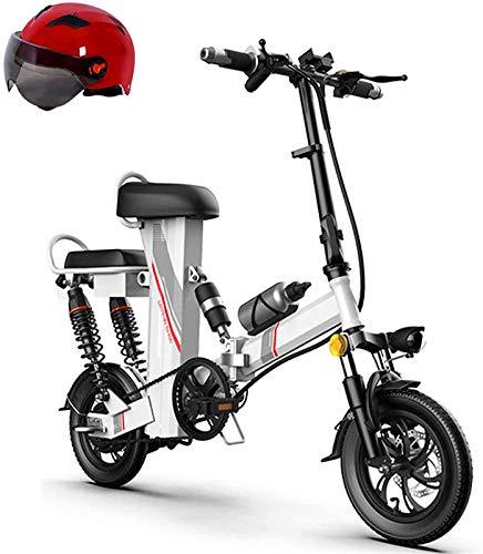 Bicicletas Eléctricas, Plegable bicicleta eléctrica for los adultos de 12' con extraíble 48v 350w de iones de litio con los frenos delanteros y traseros de discos y HD LCD Instrumentación Antirrobo To