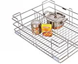 Color: Silver, Material Type: Stainless Steel With Nickel Chromium Polish Size (W x L x H): 24 x 20 x 8 Inches Warranty: 14 Years Included Components: 1 Partition Basket